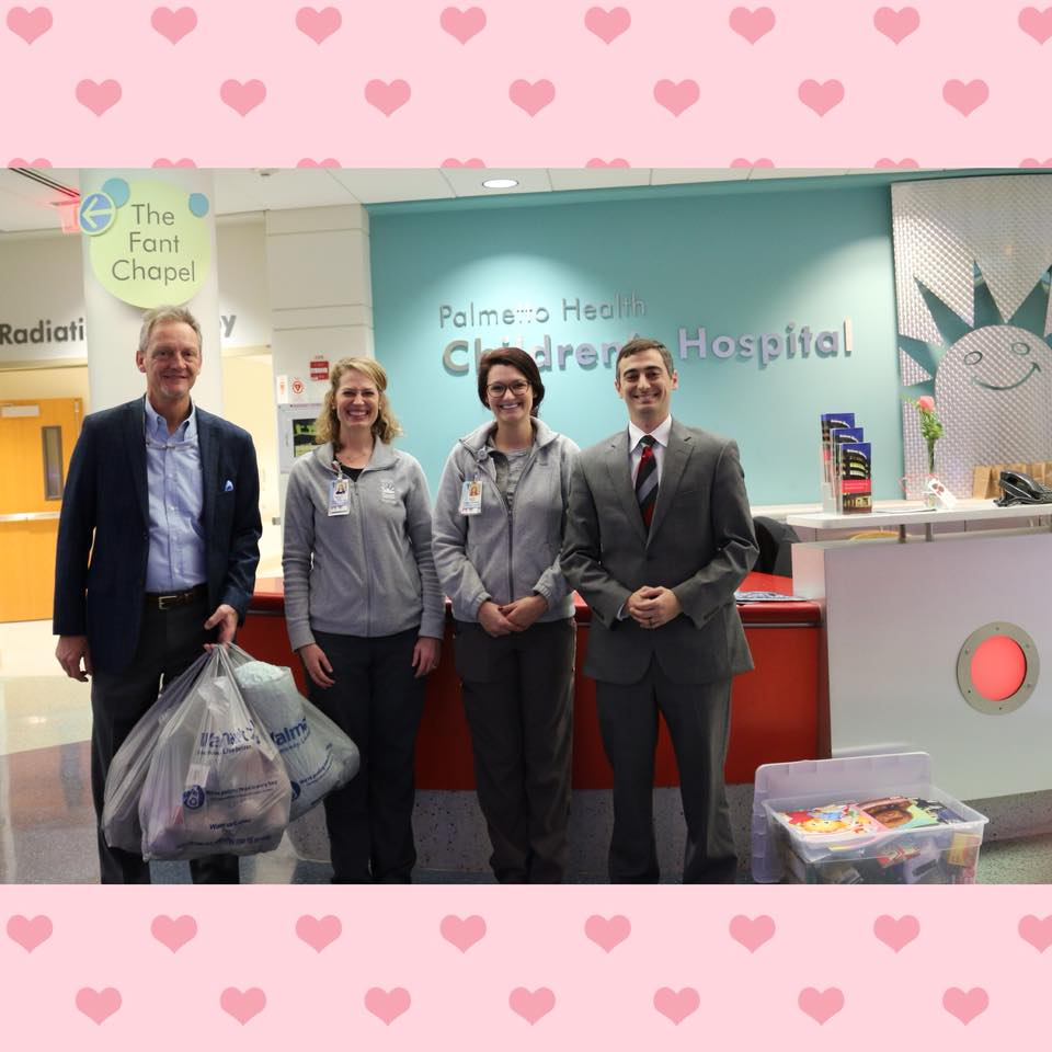 South Carolina Personal Injury Lawyers Make Valentine Delivery to Children's Hospital