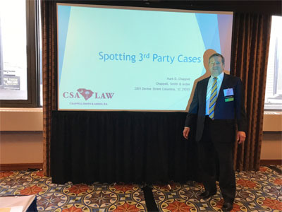South Carolina Workers Compensation Lawyer, Mark Chappell. of Chappell Smith & Arden, P.A. Presents at Southeast Regional Conference in Atlanta